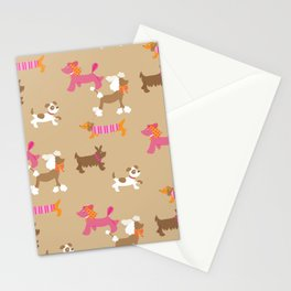 Walkies, Poodles, Sausage dogs and Terriers Stationery Cards