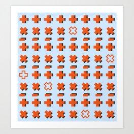 Math symbols Art Print