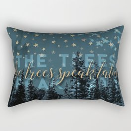 The trees speak latin Rectangular Pillow