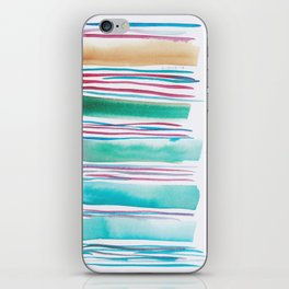 6   |181026 Lines & Color Block | Watercolor Abstract | Modern Watercolor Art iPhone Skin