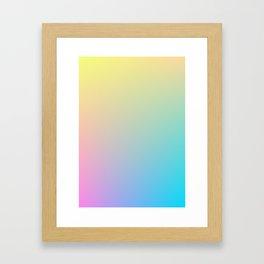 MELODY / Plain Soft Mood Color Tones Framed Art Print