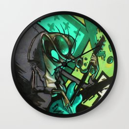 HUMAN FLY Wall Clock