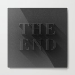 THE END Metal Print