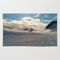 iceland Area & Throw Rugs featuring Snowcapped Iceland by tyler Guill