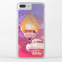 Oriental Magical Lights and Love Clear iPhone Case
