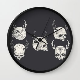 skulls & horns Wall Clock