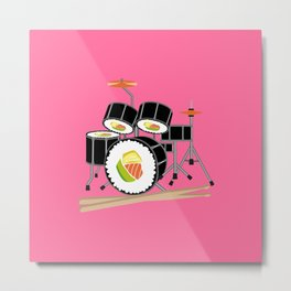 Sushi Drum Metal Print