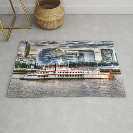 MV Dixie Queen Paddle Steamer Rug