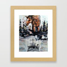 See it Deep Framed Art Print