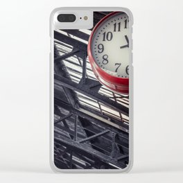 Red clock Clear iPhone Case