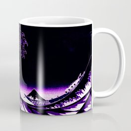 The Great Wave : Purple Coffee Mug