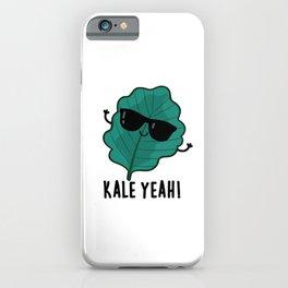 Kale Yeah Cute Veggie Pun iPhone Case