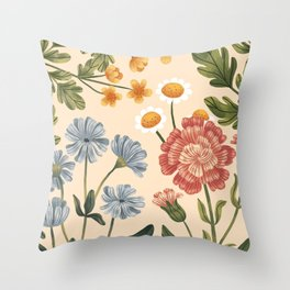 Wild Flowers ~ vol4. ~ light  Throw Pillow