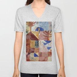 Paul Klee - Landscape with Bluebirds Unisex V-Neck