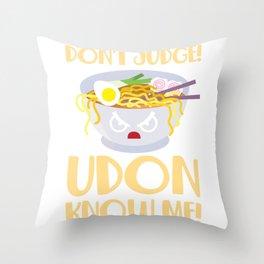 Udon Noodle Soup Pun Japanese Kitchen Food Throw Pillow