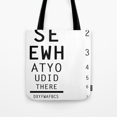 I See What You Did There Tote Bag