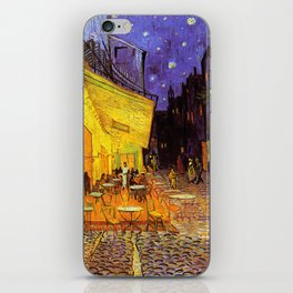 Vincent Van Gogh Cafe Terrace At Night iPhone Skin
