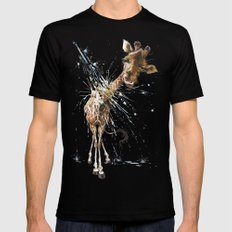 Giraffe Black LARGE Mens Fitted Tee