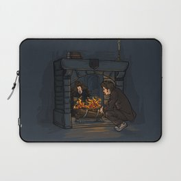 The Witch in the Fireplace Laptop Sleeve