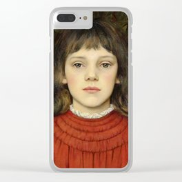 "Evelyn De Morgan ""Portrait of Winifred Julia Spencer Stanhope"" Clear iPhone Case"