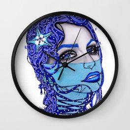 Sea Blue Mermaid Wall Clock