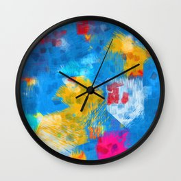 Colorful paint brushes Wall Clock
