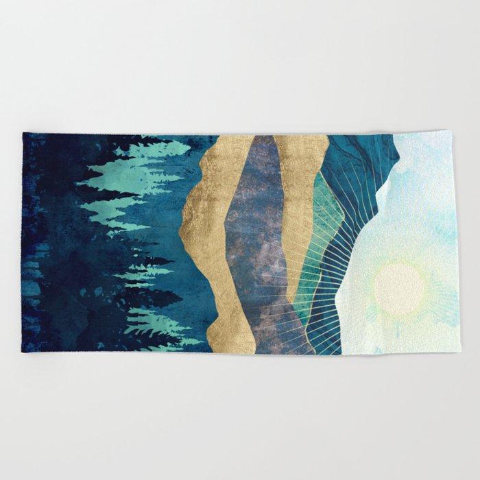 Blue Forest Beach Towel