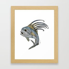 Stylefish Roosterfish Framed Art Print