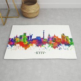 Kyiv Ukraine Skyline Rug