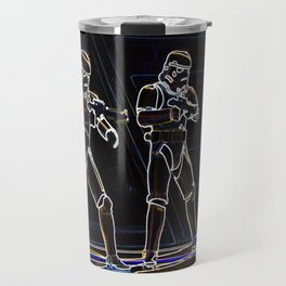 Storm Troopers in neon Travel Mug
