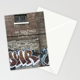 """No admittance to strangers"" Stationery Cards"