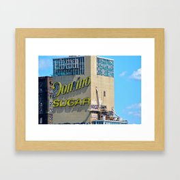 Domino Sugar Factory Framed Art Print