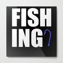 Fishing Hook Metal Print