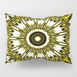Yellow White Black Sun Explosion Pillow Sham