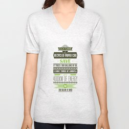 Typographic Posters - Recycle for a better future! Unisex V-Neck