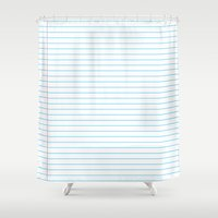 school Shower Curtains featuring school by austeja saffron