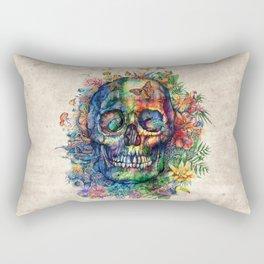floral tropical skull Rectangular Pillow