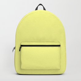 Soft Chalky Pastel Yellow Solid Color Backpack