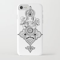 ganesh iPhone & iPod Cases featuring Ganesh by N.I.S.