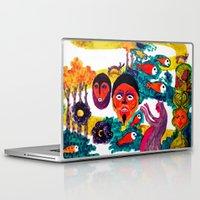 swim Laptop & iPad Skins featuring swim swim swim away by Lavinia Barna
