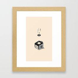 ElectroVideo GameCube (black) Framed Art Print