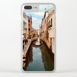Canals of Venice III Clear iPhone Case