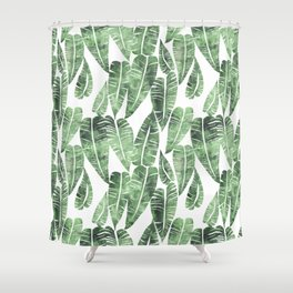 Island Goddess Leaf Green Shower Curtain