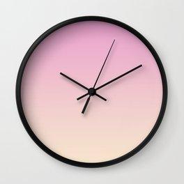 Pastel Millennial Pink Peach Gradient Wall Clock
