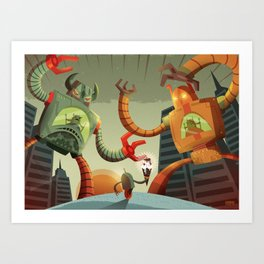 RoboMonsters Art Print