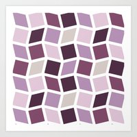 Squares and Diamonds 5 Art Print