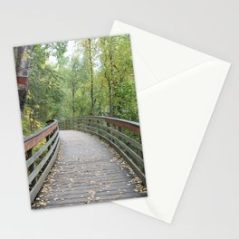 Walking Bridge in the Woods Stationery Cards