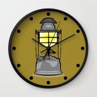 lantern Wall Clocks featuring Lantern by mailboxdisco