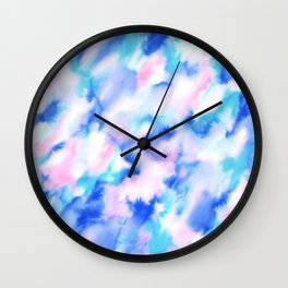 Love Spell Turquoise Pink Wall Clock