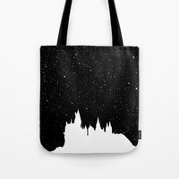 hogwarts Tote Bags featuring Hogwarts Space by IA Apparel